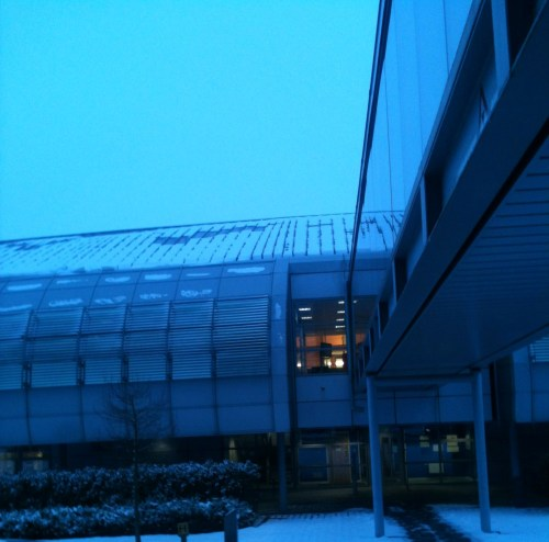 21 January 2013: Business as usual at a snowy synchrotron.