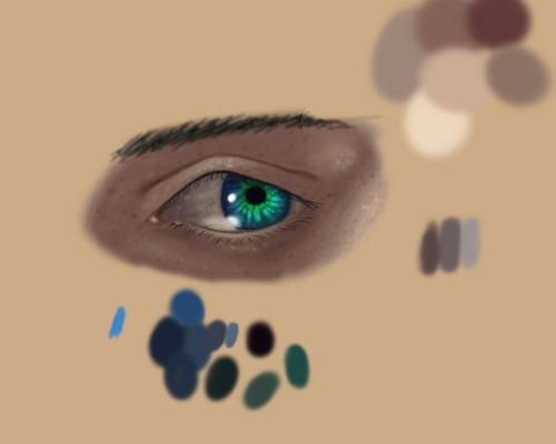 I drew Zack's eye because I found a cool eye tutorial that I thought would be cool for Mako eye glow.