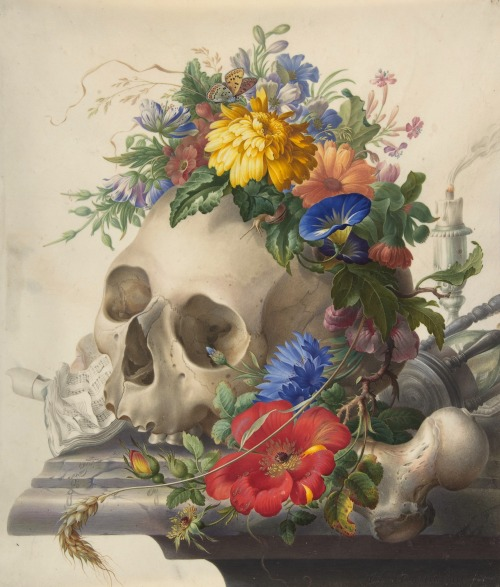 Herman Henstenburgh  (Dutch, 1667–1726), Vanitas Still Life (via: The Metropolitan Museum of Arts)