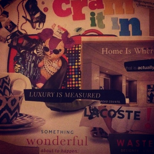 CRAM IT In design experts pick their fav' urban— flower tower in Paris, WikiLeaks' air-raid shelter, unexpected   Adult, home is where the art is, new that is actually new lucite— Luxury is measured read counts. La coste!  Something wonderful about to happen wasteland - vintage - modern  #magazinepoetry #sketchbook #nylon #poemlet #blackoutpoetry #catalogue #advertisements #poemstagram #collage #artstagram