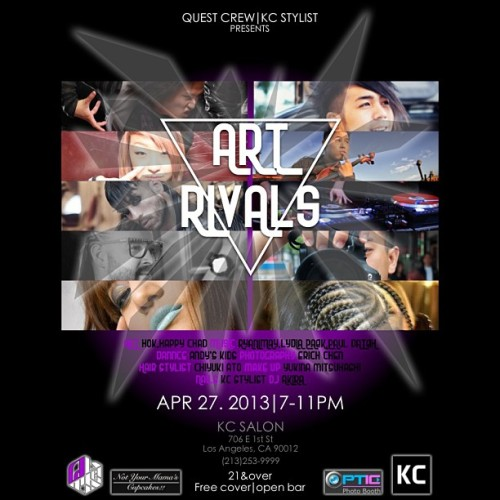 QUEST CREW presents ART RIVALS April 27th (Saturday) 7pm-11pm in downtown LA. 21+ Ru will be doing a beatset.  check out the event details on Facebook https://www.facebook.com/events/535404549834945/