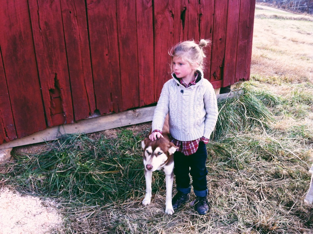 awelltraveledwoman:  My little man and his dog.
