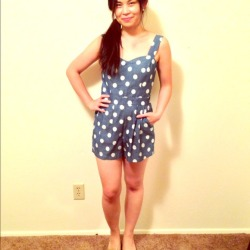 I just added this to my closet on Poshmark: Brand new Polka dot romper in chambray. (http://bit.ly/188WhU3) #poshmark #fashion #shopping #shopmycloset
