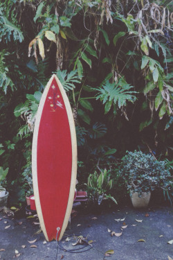 Early 70's Daniell single fin surfboard, shaped by Peter Daniell in his garage behind his old St Ives surf shop.