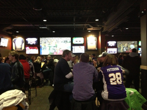 Vikings fans taking over BWW!