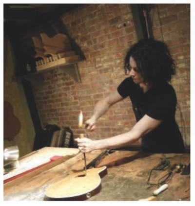 yelloweye:  anythingjackwhitedoes:  making a guitar like the perfect asshole he is  Building, things, with, hands. Yes. Good.