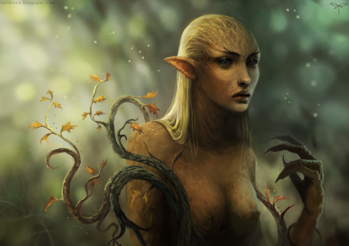 illustrateyourworld:  Dryad Awakening by *telthona