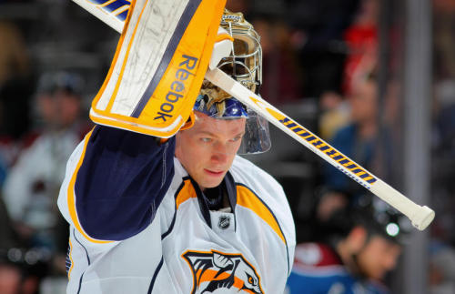 imperfectstorm:  Get better soon, Peks!! Preds' Goalie Pekka Rinne undergoes hip surgery.