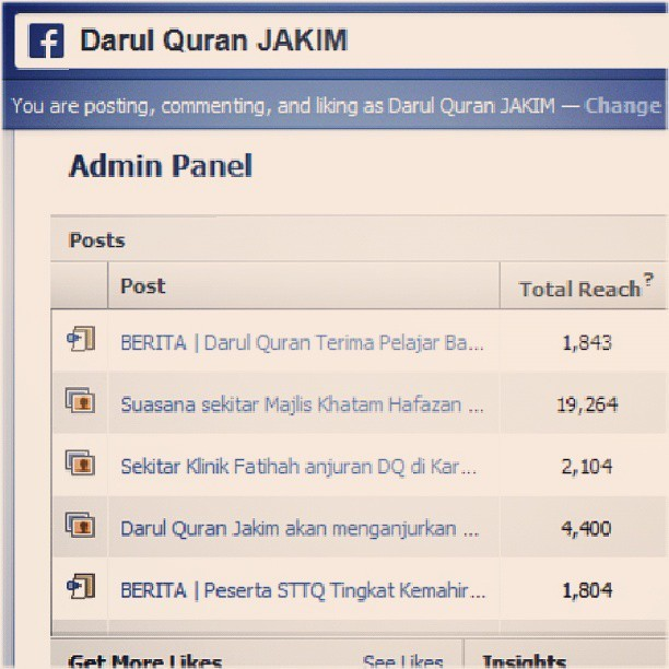 Insight of Facebook #DarulQuran #Jakim for today ~ #annamir #facebook #instagram #Malaysia #islam #insight #post  (at https://facebook.com/darulquran)