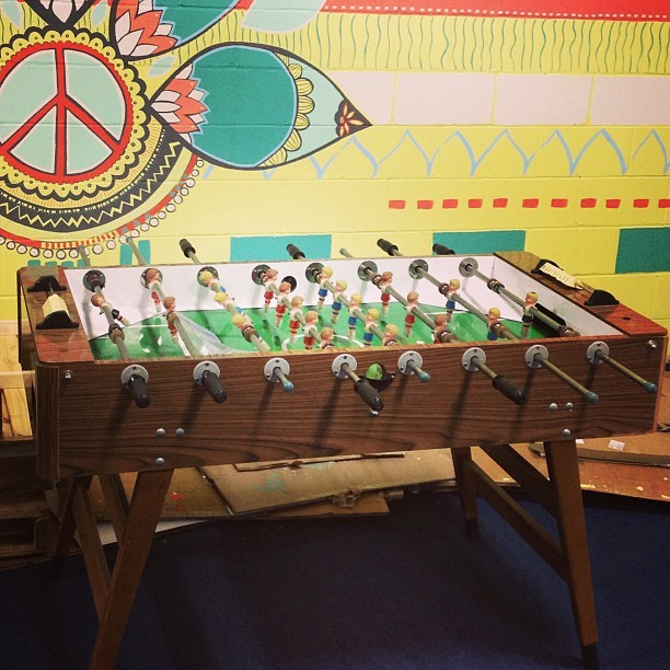 Oh! Hello friend. #foos4eva #foosball #soulflower #warehouse #organicfashion  (at Soul Flower)