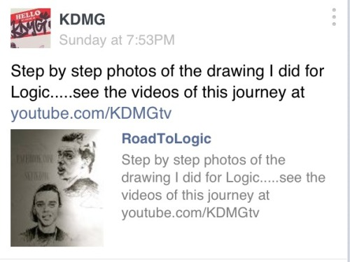 Make sure you peep all the photos of the 'RoadToLogic' artwork at http://facebook.com/SKITKDMG