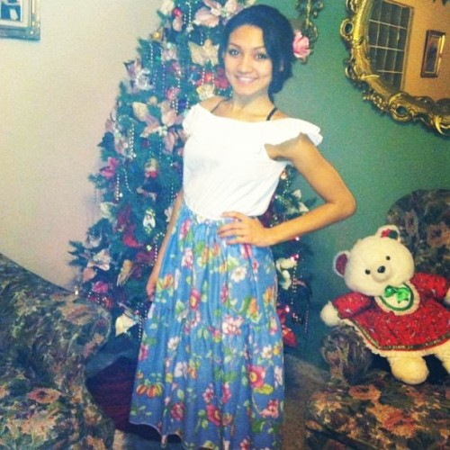 Puerto Rican & Proud 😘 Traditional puerto rican clothes. My grandma sent me this pic she took over Xmas break. I miss Puerto Rico.