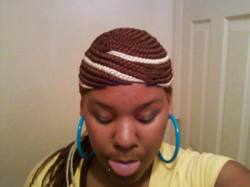 ratchetmess:  glued on braids… I can't