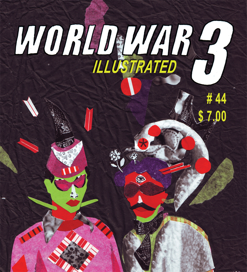 "WW3 Illustrated #44 Release Party  The Silent Barn 603 Bushwick Ave, Brooklyn, NY Between Jefferson and Melrose 1.5 blocks from the Broadway/Myrtle JMZ  Thursday, March 7th, 2013 7:00pm – 10:00pm | FREE Comix magazine and artists' collective World War 3 Illustrated has been a voice for radical politics and underground culture since 1980. The release party for Issue #44 (""Being the Other"") will feature performances by cartoonists Seth Tobocman, Peter Kuper, Ganzeer, and more.All ages welcome.  http://www.facebook.com/events/507371189303080/  Click here to pre-order your copies from Top Shelf (and check out their back-issue catalog as well)!"