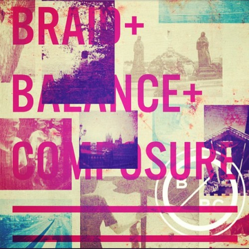 Sunlight at the new Braid and Balance & Composure split EP on the way to wings! Gold.