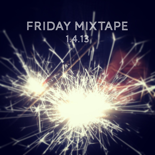 Friday Mixtape! The first one of 2013 whoop whoop!  Just about every Friday, I make a playlist of music I've been listening to and enjoying during the week. I work on my computer most of the day so the tunes are always flowing. It's usually a pretty eclectic mix of songs, but it's fun when I can see a theme or trend in the tunes that corresponds to how my week has gone and what I've been up to. That part is really mostly for me, but you can enjoy it just the same :)  This week you'll notice a similar sound to the songs… a little laid back with lots of folk-inspired banjo and clap-beats. No better way to ring in the New Year. My two favorite songs this week are Counting Sheep by The Crane Wives and Either Way by Beta Radio.  And speaking of New Year… if the first song— a version of Auld Lang Syne— doesn't get you going and excited about 2013… I don't know what to tell you.  As always, these songs will be added to the big Fridays Mix where all the songs from all the Friday Mixtapes are compiled. Subscribe if you'd like to and enjoy some really good music for hours and hours and hours. And then more hours.