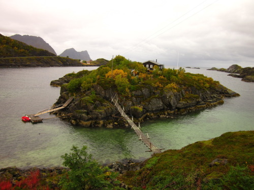 Cabin next to Senja Island, Norway in the Arctic Ocean. Submitted by Nicolas Schoof.