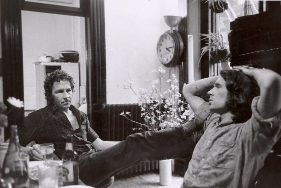 Robert Rauschenberg with assistant Brice Marden, New York, 1968. Photo - Henri Cartier-Bresson, Robert Rauschenberg Archive, NY