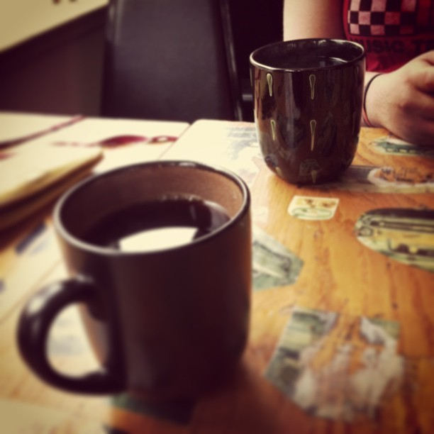 Coffee with my oldest friend (at Blue Moose Cafe)