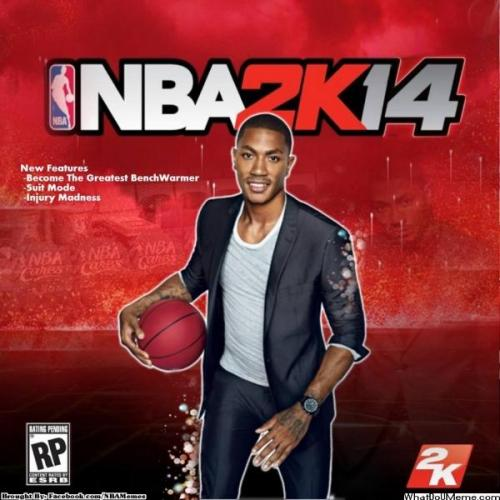 thenbamemes:  The 2K14 NBA Cover!