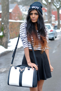 fashionpassionates:  Get the skirt here: RUFFLE SKIRT Shop beanies here: MUST HAVE BEANIES Shop FP | Fashion Passionates
