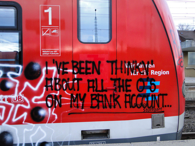 graffquotes:  I've been thinkin' about all the 0's on my bank account…