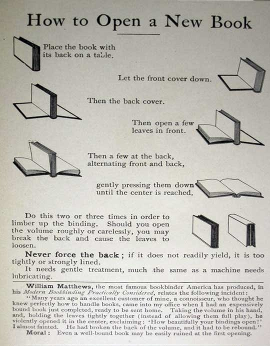 vintageanchor:  The right way to open a new book.