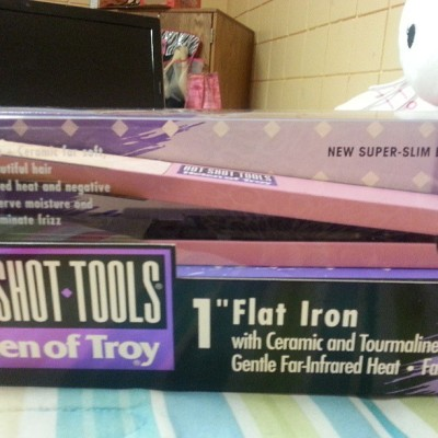 My Helen of Troy flat irons that was given to me as a Christmas gift from my friend Raeven in 2011 #throwback
