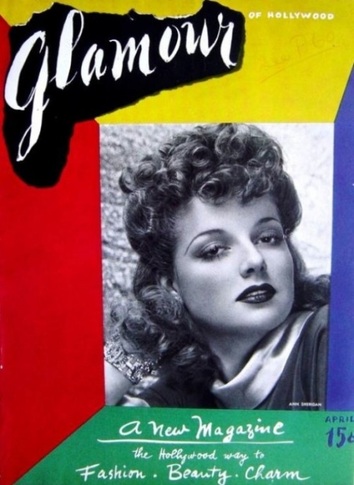 glamour:  Happy birthday to us! Glamour first hit newsstands 74 years ago today. On the cover: Actress Ann Sheridan. See some more of our favorite vintage covers on Vine.