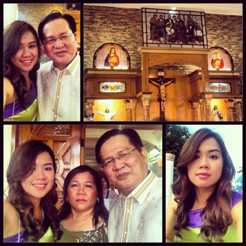 At the wedding. #may18 (at Ascension Of Our Lord Parish, Lagro Subdivision)