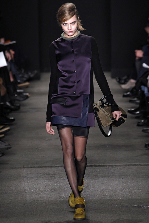 cara's cocky walk kills me…. Cara Delevingne in Rag + Bone Fall 2013 look 23