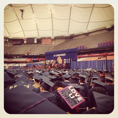 nosuchfinishline:  #sugrad13  Congratulations to the Class of 2013, we're so proud to have such passionate and spirited alumni ready to take their place in the world!