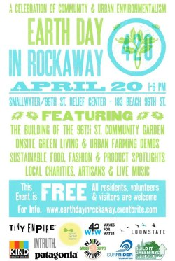 earth day in rockaway. come out + support.