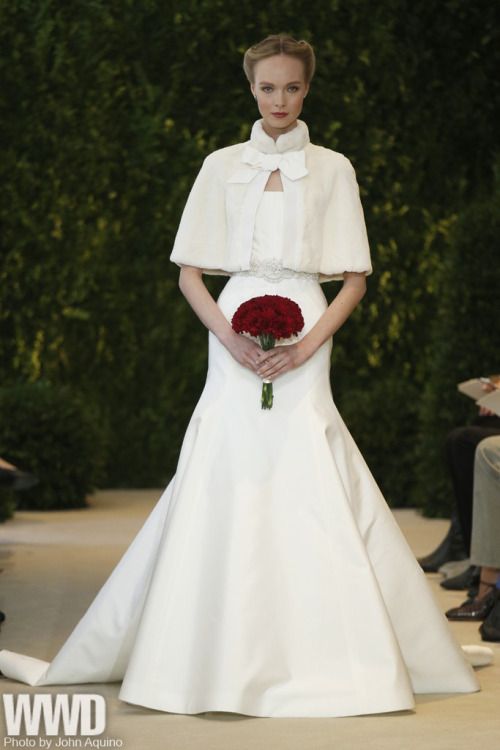 womensweardaily:  Carolina Herrera Bridal Spring 2014