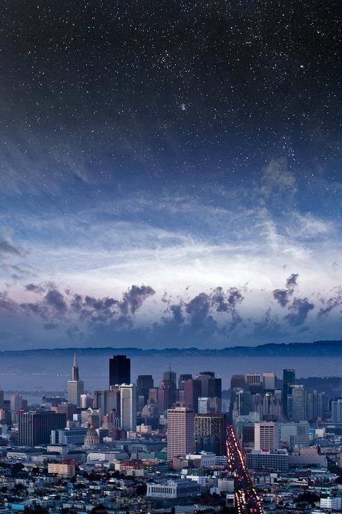 e4rthy:  Stars Over San Francisco by Nathan Spotts