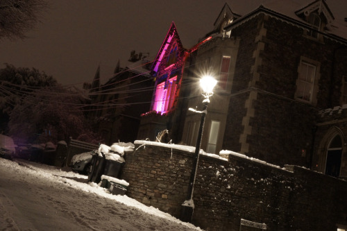 Cotham Vale / night / snow