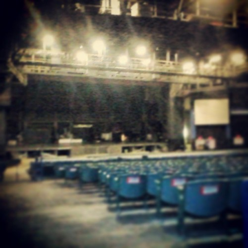 The stage before an event #sasquehanna #music #stage #work #job #lights #seats #SoManyHashTagsIWantFreeHashBrownAtMcDonalds