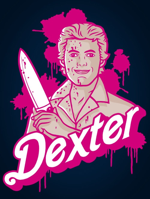 """Dexter&Barbie"" Tee/hoodie/stickers at my RedBubble webstore : http://www.redbubble.com/people/baznet/works/10204265-dexterandbarbie"