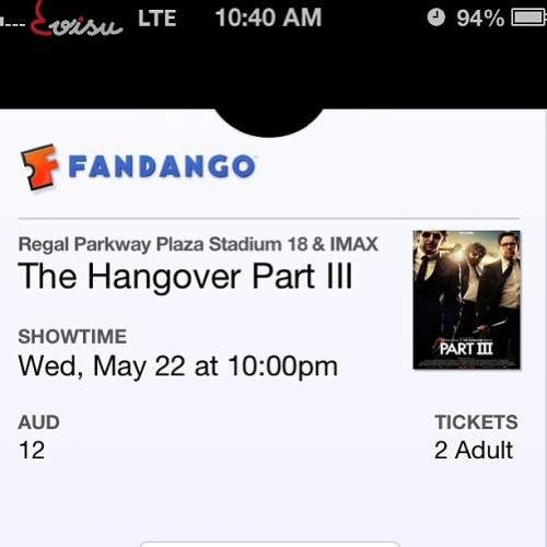 Tonight shall be fun with @henna_jill <33   #date #gf #movie #hangover #part3 #hangover3 #funny #hastobedope #giraffe #vegas