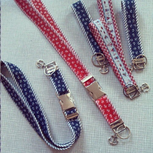 customorder done: nautical key chains // #anchor #keychain #nautical #handmade #naehmarie #customorder