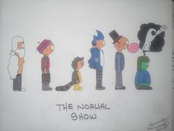 "Prelo killin it once again with her own variation of cartoon favorites! ""The Normal Show"" Sharpie Tell her what you think on Facebook!"
