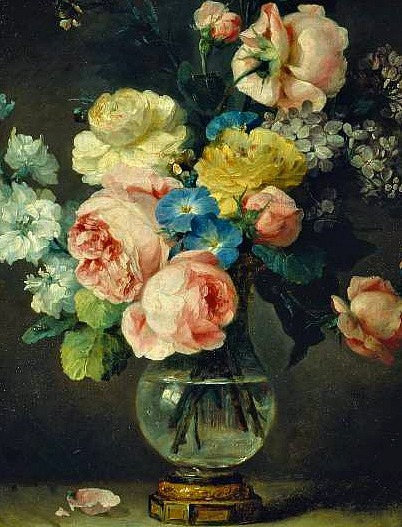 stilllifequickheart:  Anne Vallayer-Coster A Vase of Flowers, detail 1775
