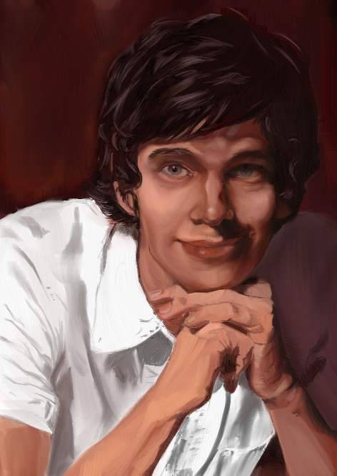 Have not updated for very long. Just discovered painter. My attempt on Ben Wishaw with painter 12.