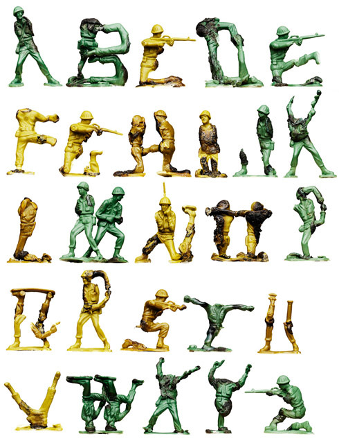Army Men Alphabet A to Z by Oliver Munday