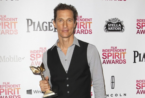 "Independent Spirit Awards. Matthew McConaughey wins Best Supporting Actor for Magic Mike.   ""I had to drop my drawers to win an award,"" he said while accepting his trophy.  [Complete list of winners]"
