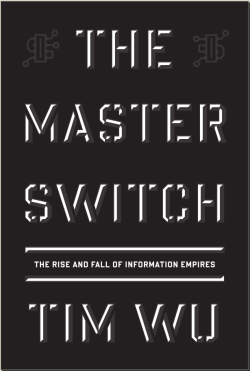 The Master Switch, Tim Wu (M, 30s, short hair, cropped beard, wallet in back pocket caused hole in jeans, M train) http://bit.ly/14sDXTE