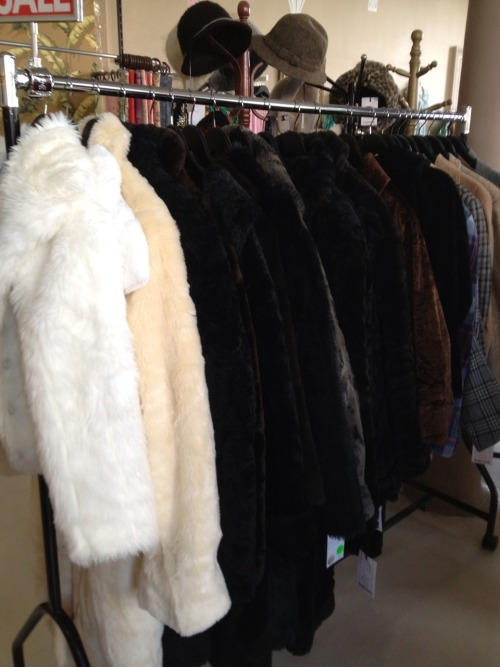Imitation fur coats and jackets $50
