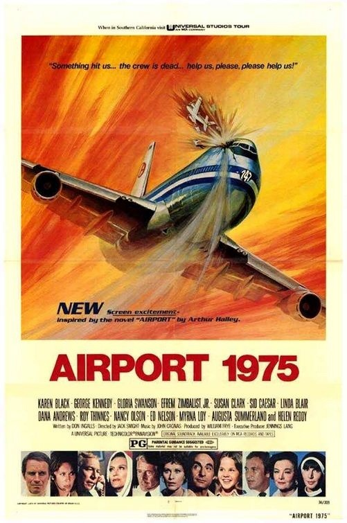 superseventies:  'Airport 1975' - 1974 film poster