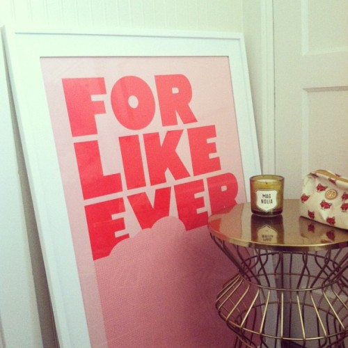 "theglitterguide:  We love our ""For Like Ever"" poster. Check it out in our fun list of awesome wedding gifts to give! #onggtoday"