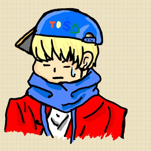 this's zelo fanart. I drew it. lol xD it's very failed right? comment please c: